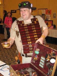 Hal-Con 2012 Steampunk Salesman