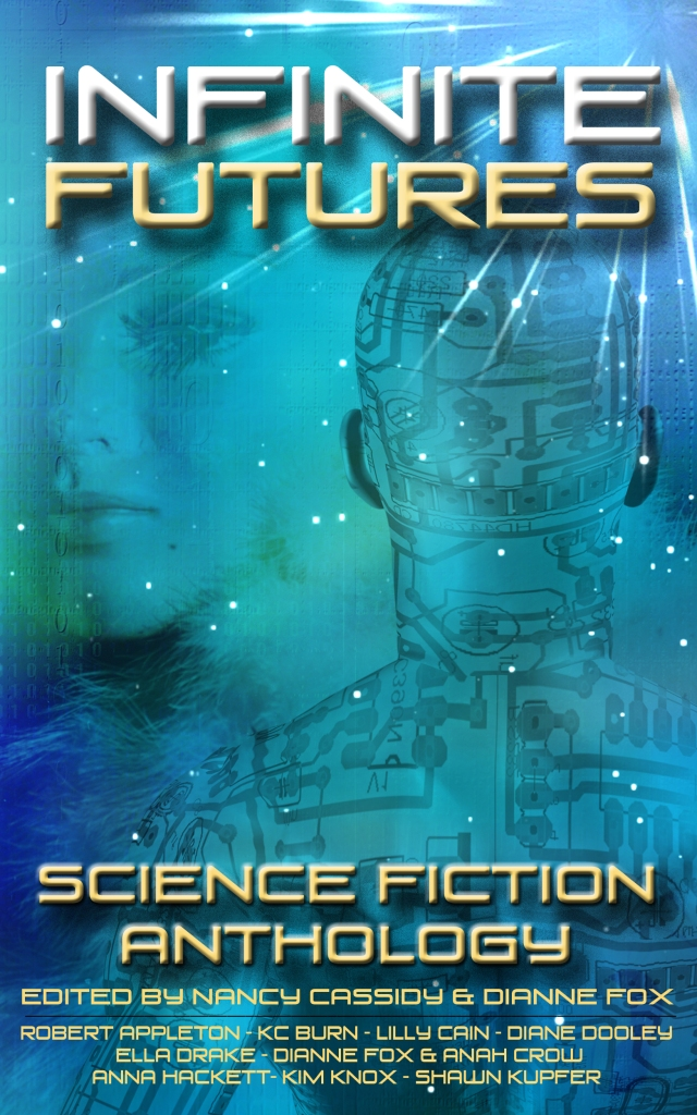 Cover of Infinite Futures - the first Anthology by Contact IF Blog members