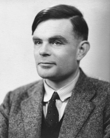 Alan Turing (photo from Wikipedia)